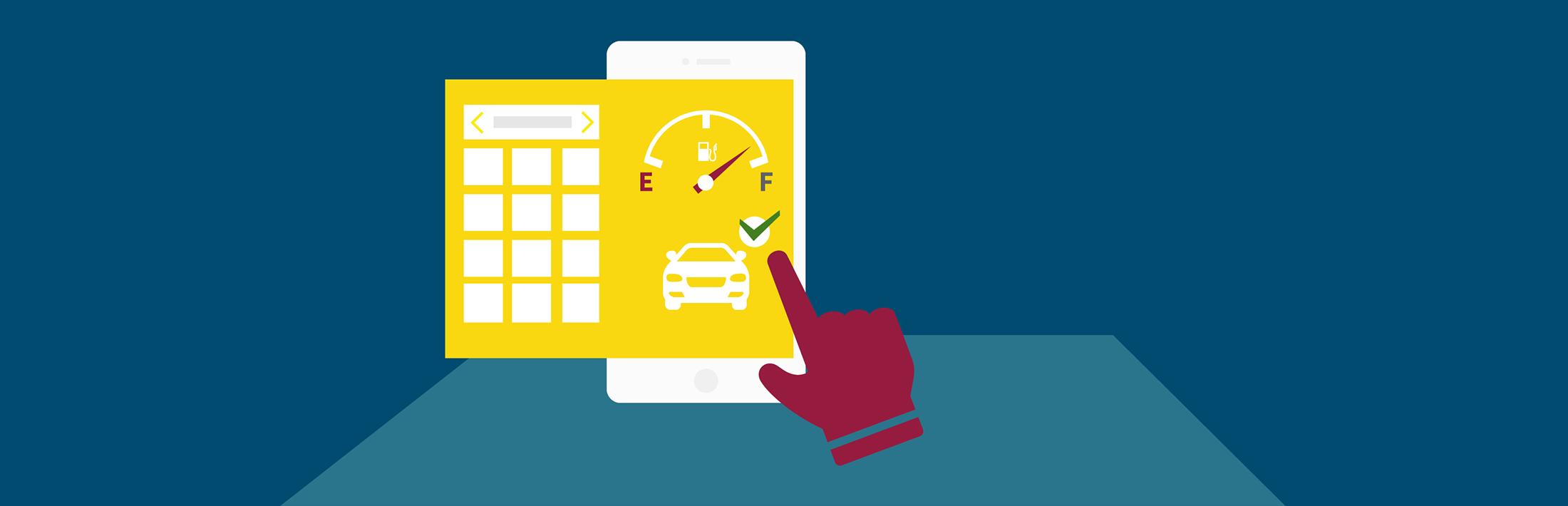Sharetoo aplikacija prikazuje razpoložljivost vozila in vse podatke o avtomobilu.