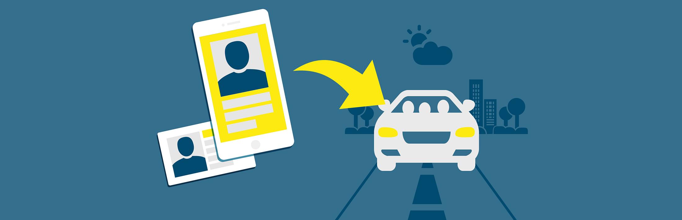 Vozilo je odklenjeno z aplikacijo ali kartico, vi samo vstopite in odpeljete. Po končani vožnji enostavno ponovno zaklenete z aplikacijo ali kartico.